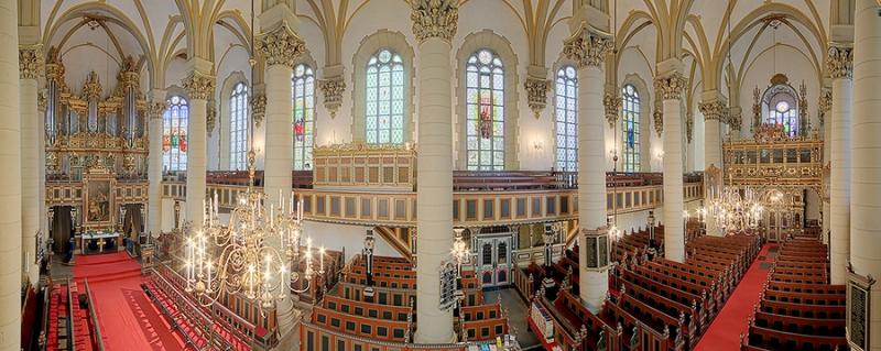 Stadtkirche Bückeburg Innenpanorama