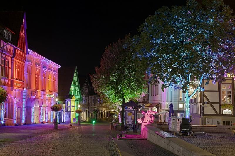Bückeburg beleuchtet