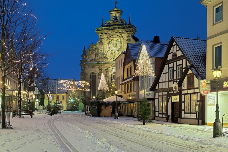 Winter Lange Strasse in Bückeburg
