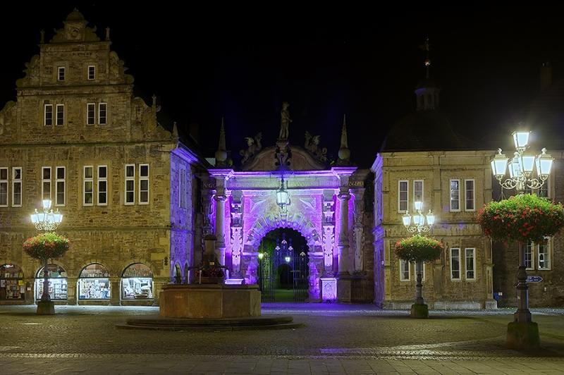 Marktplatz Bückeburg beleuchtet