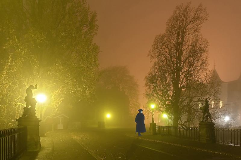 Gespenster auf der Schlossbrücke Bückeburg