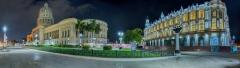 5612P-33P-Cuba-Havanna-Capitel-und-Theater-Panorama-Nacht-HDR1
