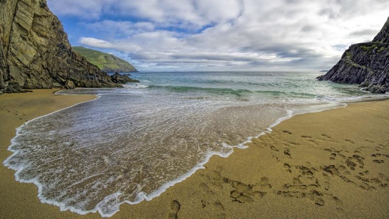3413Sa die Welle Irland Sandbucht