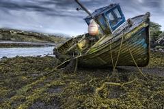 1898P altes Boot Irland Ebbe bei Teelin