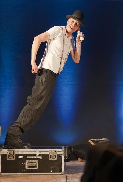Niel Weberling auf der Bühne
