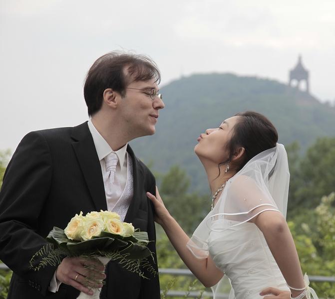 Hochzeitspaar an der Porta
