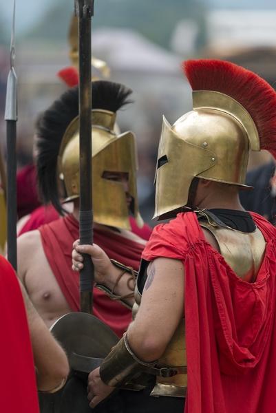 Römische Kämpfer mit Helm