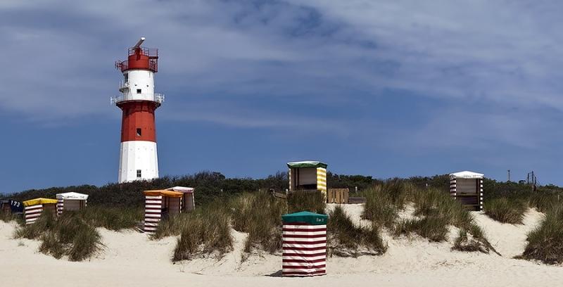 2314i-17i Borkum Dünen mit Strandkörbe  Panoramakarte Ausschnitt