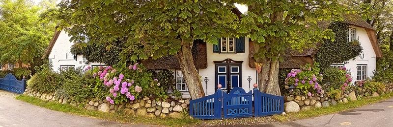 4423-25B Panorama Haus in Keitum  Kopie