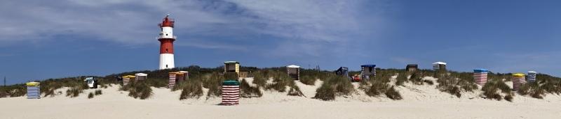 2314i-17i Borkum Dünen mit Strandkörbe  Panoramakarte