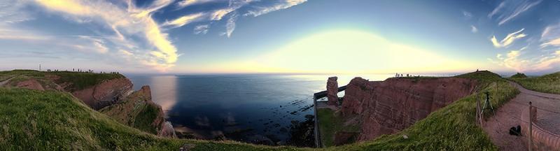 4113i-19i Lange Anna Helgoland Panorama nach Sonnenuntergang