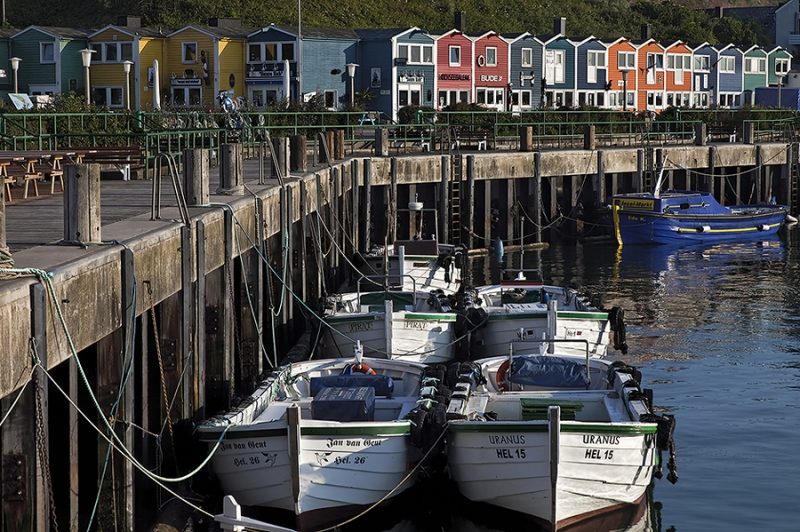 4802I Fischerhäuser am Hafen Helgoland