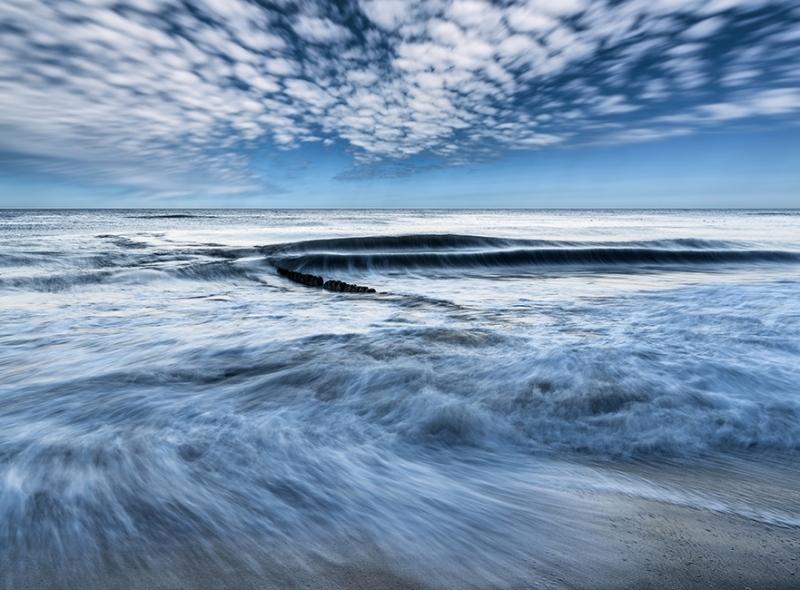 Wellen und Wolkenbewegungen