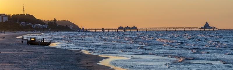 Abendstimmung am Meer Panorama