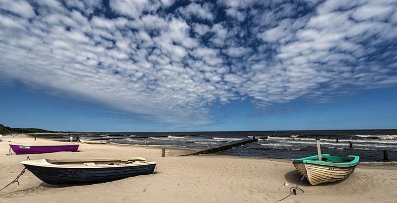 Strand Ostsee Fischerboote