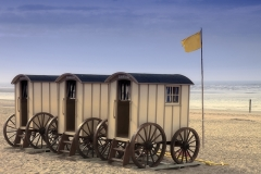 1714i historische Umkleidewagen Norderney