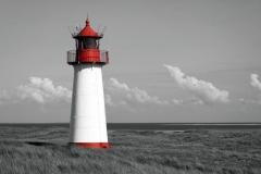 1757D Leuchtturm auf Sylt sw col.