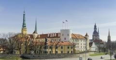 Riga Lettland historische Architektur Burg Schloss