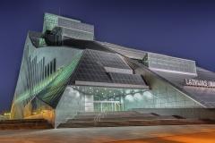 Riga Lettland Nationalbibliothek Nacht