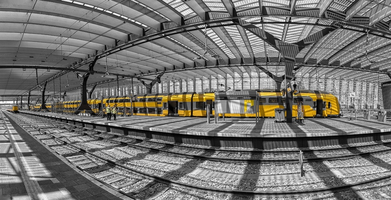 1276S-77S-Rotterdam-Central-Bahnhof-Panorama-sw-col.