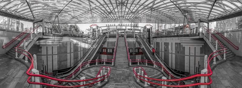 7502SB-06SB-Rotterdam-U-Bahn-Station-Blaak-Panorama-SW-rot-coloriert