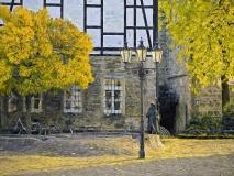 9887 Marktplatz Rinteln  Herbst gemalt 80x60x Druck