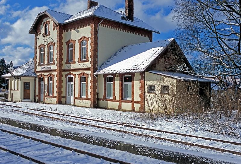 Bahnhof-Bad-Eilsen-Winter