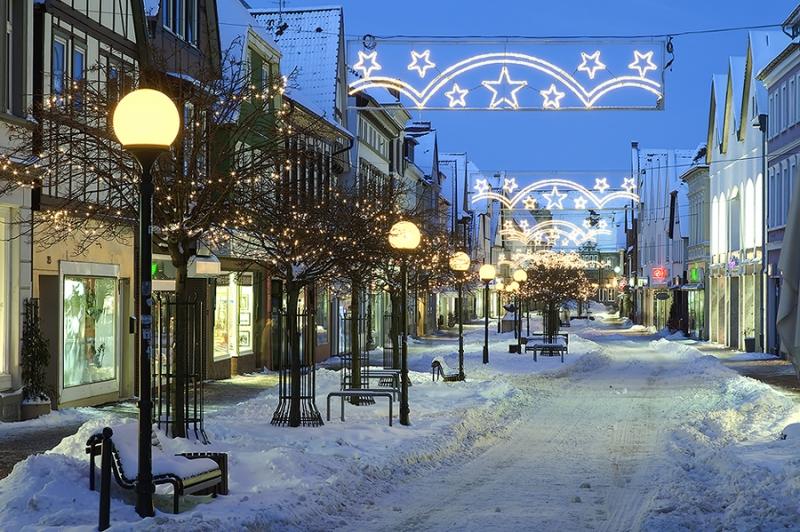 Obernstrasse Stadthagen Weihnachtsbeleuchtung