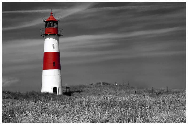 1815D-Leuchtturm-Sylt-SW-teilcoloriert-Kopie