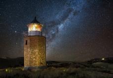 Leuchtturm auf Sylt Nacht Sternenhimmel
