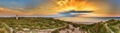 7916P-7920P-Leuchtturm-Sylt-Ellenbogen-Panorama-Sonnenuntergangsstrahlen